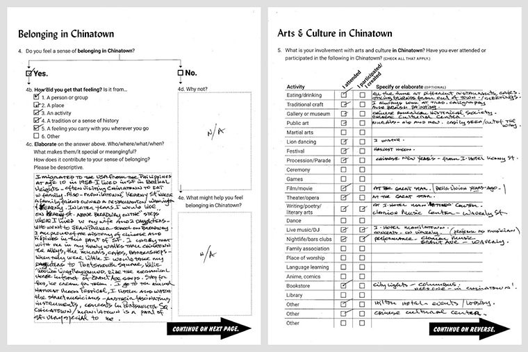 Completed questionnaire by participant Carlos Zialcita.